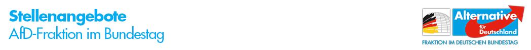 Stellenportal der AfD-Fraktion im deutschen Bundestag Logo